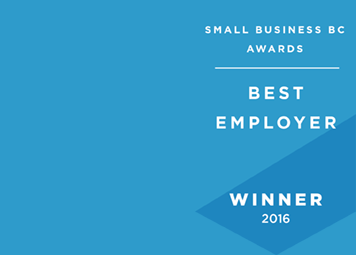 Awarded Best Employer, Small Business BC
